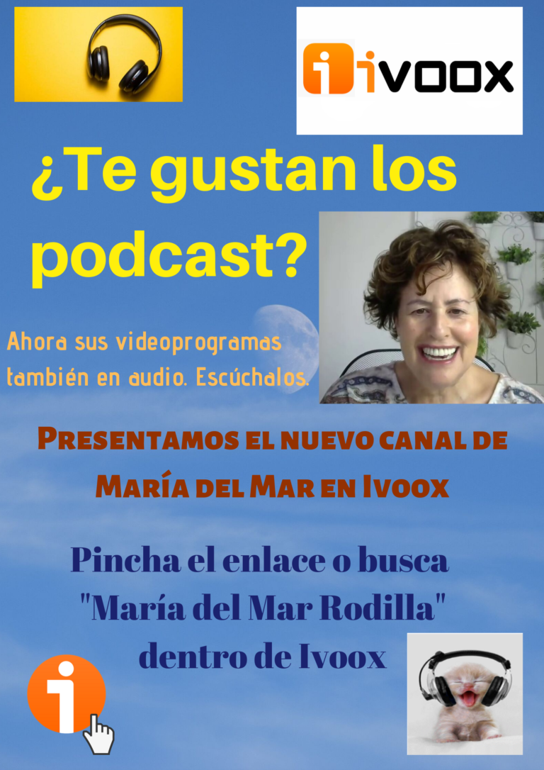 promoción de programa de María del Mar Rodilla en Ivoox
